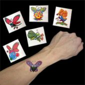 Butterfly Tattoos - 144 Pack