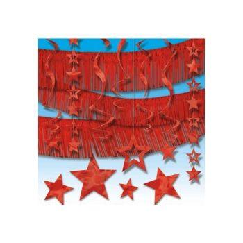 RED METALLIC   DECORATING KIT