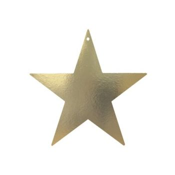 Gold Star    Foil Cutouts