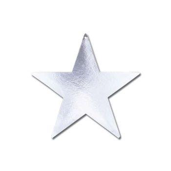 Silver Star Foil Cutouts
