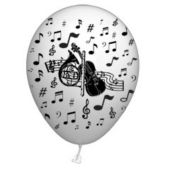 "Music Note 14"" Balloons - 25 Per Unit"