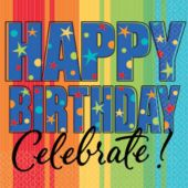 Celebrate Birthdays Luncheon Napkins - 16 Per unit