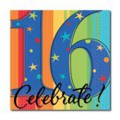 Celebrate 16 Beverage Napkins - 16 Pack