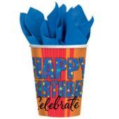 Celebrate Birthdays 9 Oz. Cups - 8 Pack