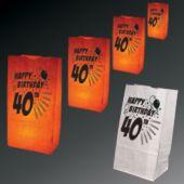 40th Birthday Luminary Bags-50 Pack