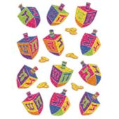 Dreidel Stickers - 36 Per Unit