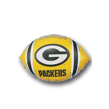Green Bay Packers Football Metallic Balloon - 18 Inch