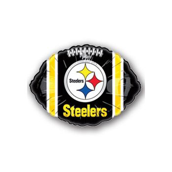 Pittsburgh Steelers Football Metallic Balloon - 18 Inch