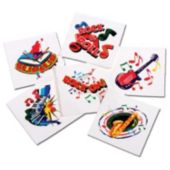 Rock & Roll Tattoos - 144 Pack