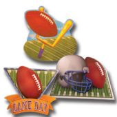 Football Game Day Cutouts-3 Per Unit