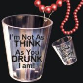 Drunk Shot Glass Necklace-33""