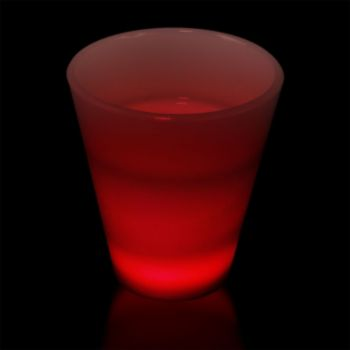 Red LED Shot Glass - 2 Ounce