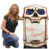 Skull Cardboard Stand Up