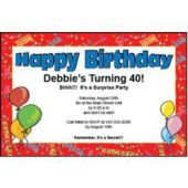 Happy Birthday   Personalized Invitations