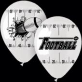"Football Theme 14"" Balloons - 25 Per Unit"