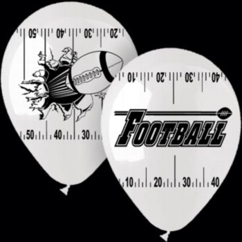 "FOOTBALL THEME   14"" LATEX BALLOONS"