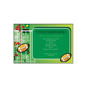 Touchdown Party Invitations