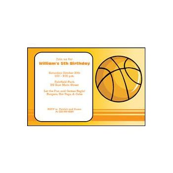 Hoop Dreams Invitations