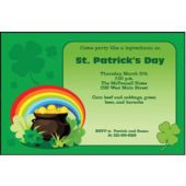 Rainbow Shamrocks Personalized Invitations