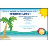 Tropical Party Personalized Invitations