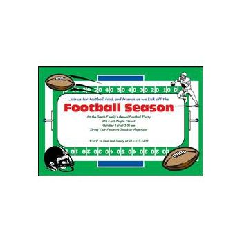 Custom Football Party Invitations
