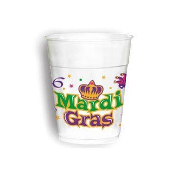 MARDI GRAS 14 oz. CUPS
