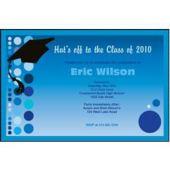 Graduation Blue Custom Invitations