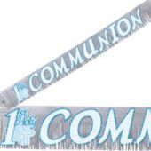 1st Communion Blue Banner