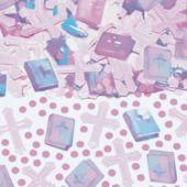 Pink Cross Confetti