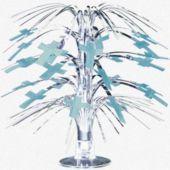"Blue Cross Centerpiece-8 1/2"""