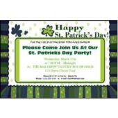 St Patricks Day Personalized Invitations