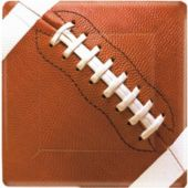 "Football Fan 10"" Square Plates - 8 Pack"