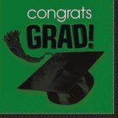 Green Graduation Lunch Napkins - 36 Per Unit