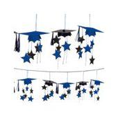 Blue Graduation 3D Garland