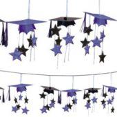 Purple Graduation 3D Garland