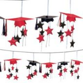 Red Graduation 3D Garland