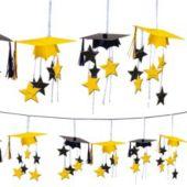 Yellow Graduation 3D Garland