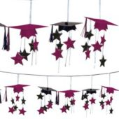 Maroon Graduation 3D Garland