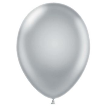 Silver Latex Balloons - 12 Inch, 100 Pack