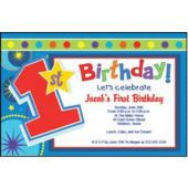 Boys 1St Birthday Personalized Invitations