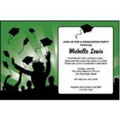 Graduation in Green Personalized Invitations