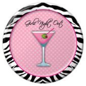"Girls Night Out 7"" Plates"