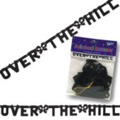 Over the Hill Letter Banner Decoration