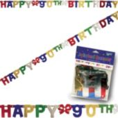 90th Birthday Banner Decoration