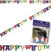 80th Birthday Banner Decoration