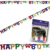 60th Birthday Banner Decoration
