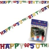 50th Birthday Banner Decoration