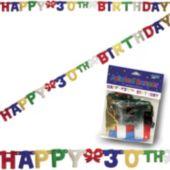 30th Birthday Banner Decoration