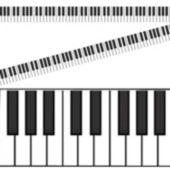 Piano Keyboard Roll Decoration