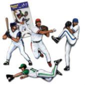 Baseball Player Cutouts-4 Pack